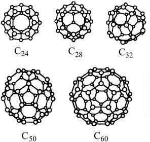 ...(Низший из теоретически возможных фуллеренов C20 представляет собой не что иное, как додекаэдр(двенадцатигранник ).