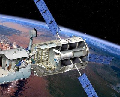 ATV, оборудованный системой запуска маленьких возвращаемых капсул (Small Payload Return). C сайта http://www.esa.int/