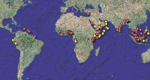 Зарегистрированные случаи пиратства (кликните картинку для увеличения)