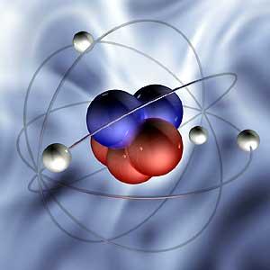 Строение атома (схематично)
