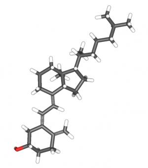 Строение молекулы холекальциферола. (кликните картинку для увеличения)