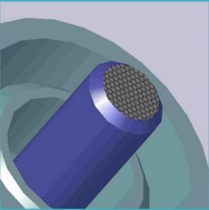 Трехмерная модель созданного ультрабыстрого лазера на основе графена. (кликните картинку для увеличения)