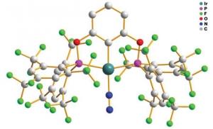 Строение комплекса иридия обладающего селективной каталитической активностью (кликните картинку для увеличения)