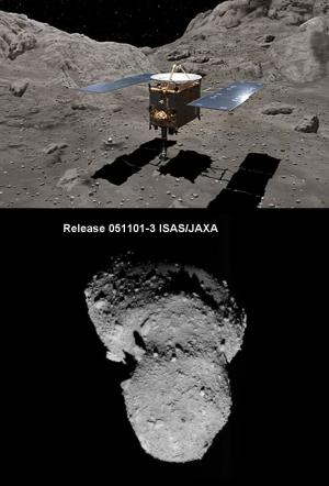 9 мая 2003 года JAXA была запущена космическая станция Hayabusa для изучения и доставки образцов грунта с астероида Итокава, находящегося между орбитами Земли и Марса. 13 июня 2010 года станция вернулась к Земле и сбросила спускаемую капсулу. [Изображение JAXA] (кликните картинку для увеличения)