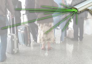 Взрывчатый нитрат аммония обнаруживается под слоем одежды: от светлого акрилового материала до толстого материала денима. (кликните картинку для увеличения)