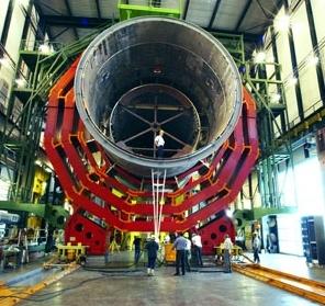 Фрагмент Большого Адронного Коллайдера.