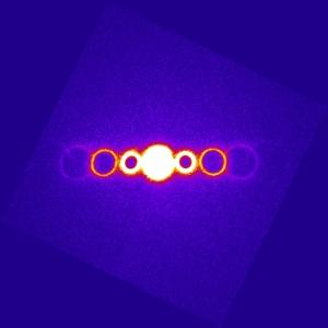 Электронный луч, использовавшийся на эксперименте. (кликните картинку для увеличения)