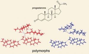 Прогестерон имеет пять известных кристаллических форм или полиморфов (кликните картинку для увеличения)