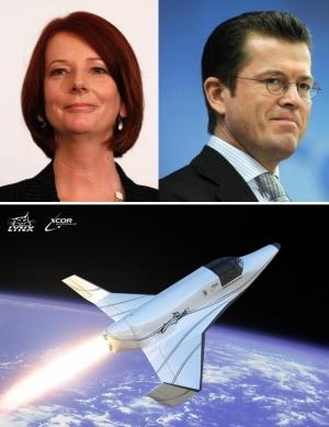 Премьер-министр Австралии Джулия Гиллард, министр обороны ФРГ Карл-Теодор цу Гуттенберг и суборбитальный космический аппарат компании XCOR Aerospace в обзоре недели от Nature (кликните картинку для увеличения)