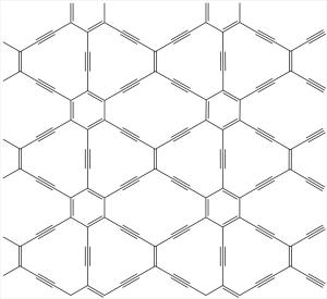 Кристаллическая решетка графана с прямоугольной симметрией. (кликните картинку для увеличения)