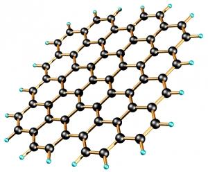 Кристаллическая структура монослоя графена. (кликните картинку для увеличения)