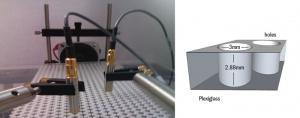 Структура, сформированная учеными из органического стекла для доказательства существования дираковского конуса в случае акустических волн. (кликните картинку для увеличения)