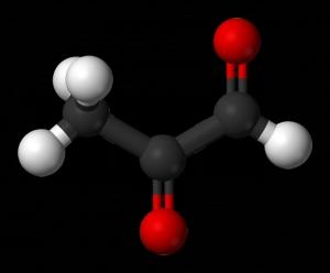 Модель строения молекулы метилглиоксаля. (кликните картинку для увеличения)