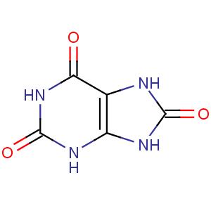 Формула мочевой кислоты.