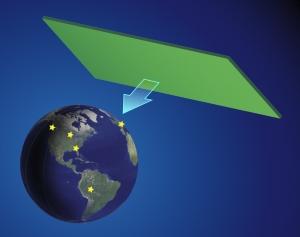 Схематическое изображение предложенной учеными структуры для определения момента прохождения планеты через доменную стену. (кликните картинку для увеличения)