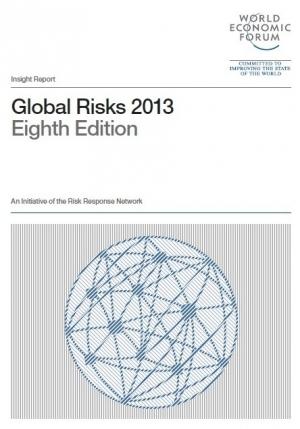 В январе был представлен отчет Всемирного экономического форума Глобальные риски 2013, составленный на базе ежегодного опроса более 1000 экспертов, представляющих различные отрасли промышленности, правительства, образовательные учреждения и общественные организации (кликните картинку для увеличения)