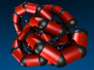 Модель искусственной белковой молекулы. (кликните картинку для увеличения)