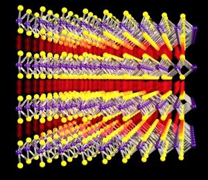 Структура дисульфида молибдена. (кликните картинку для увеличения)
