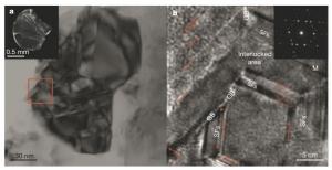 Наномасштабное изображение новой алмазо-подобной структуры, созданной китайскими учеными. (кликните картинку для увеличения)