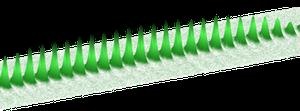 Схематическое изображение одномерного массива ловушек с Бозе-Эйнштейн конденсатом.