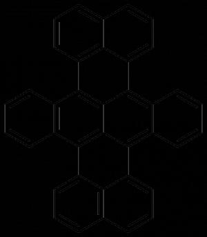 Структурная схема молекулы дибензотеррилена. (кликните картинку для увеличения)